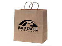 13 x 17 Natural Kraft Paper Shopping Bags