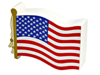 US Flag Shaped Stress Relievers