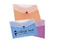 Plastic CD Envelopes with Snap Closure