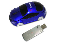 Wireless Optical Computer Mice, Car Shaped