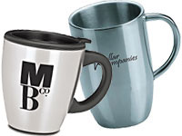 Metallic & Stainless Steel Travel Mugs