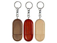 USB Flash Drives, Wooden Oval