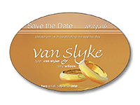 Oval Save the Date Magnets