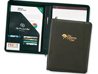 Corporate Elite Zippered Leather Portfolios