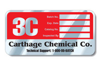 Embossable Aluminum Decals, Tamper-Resistant, 6
