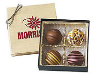 4 Piece Chocolate Truffle Gift Boxes