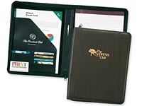 Corporate Elite Zippered Leather Padfolios