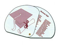 High Gloss Expandable Graduation Fans