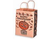 Halloween Bags, Paper Pumpkin Shopper, 10 X 13