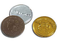 Kosher Foil Wrapped Chocolate Coins