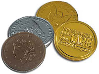 Kosher Foil Stamped Chocolate Coins