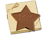 Kosher Star Shaped Custom Chocolate Bars