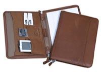 Zip Around Leather Meeting Folders