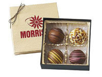 Chocolate Truffles, 4 Piece Gift Box, Kosher