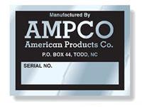 Embossable Aluminum Decals, Tamper-Resistant, 2