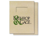 100% Recycled Printed Report Covers, Two Piece, With Window, 8-3/4
