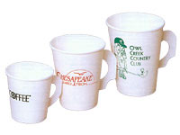 4 oz. White Paper Cups with Handle