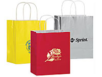 "8"" x 10-1/2"" Colored Gloss Gift Bags"