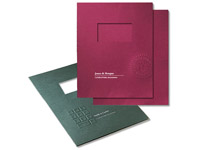 Embossed Report Covers, Two Piece, With Window, 8-3/4