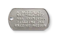 Military Style Dog Tags, Repeating Image, Embossed