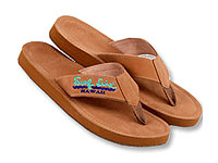 Nubuck Leather Flip Flops