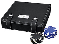 Economy Polyurethane Leather Poker Sets