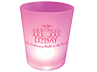 12 oz. Pink Lighted Cups
