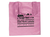 15 x 16  Pink Non-Woven Tote Bags