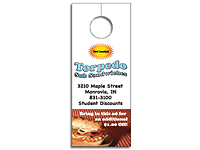4-Color Process Plastic Door Hangers