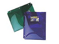 Plastic Hole Punched Pocket Folders