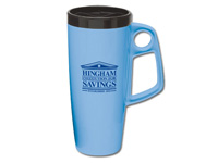 Biodegradable Natural Plastic Mugs, Trekker II Insulated Travel Mug, 22 Oz.