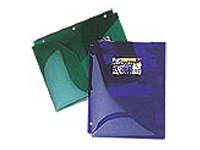 Plastic Hole Punched Two Pocket Folders
