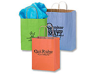Light Colored Matte Shopping Bags with Handles