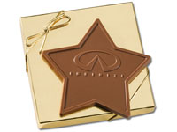 Star Shaped Chocolate Bars, 6 Oz. Kosher
