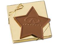 Star Shaped Chocolate Bars, 6 Oz. Kosher