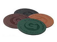 Bonded Round Leather Coasters