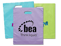 "12"" x 15"" Frosted Die Cut Plastic Bags"