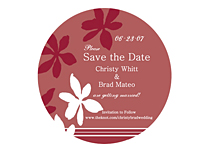 "2-1/2"" Diameter Round Save the Date Magnets"