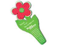 Seeded Paper Die Cut Flower Bookmarks