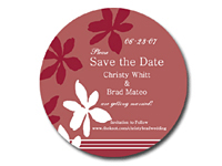 Round Save the Date Magnets