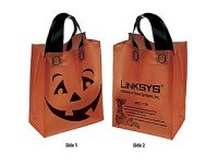 Trick Or Treat Bags, Pumpkin Shopper, 10 X 13