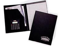 Recycled Black Vinyl Padfolios