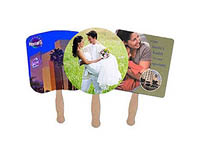 Sandwich Hand Fans, Multiple Shapes, Digitally Printed