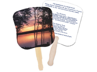 Sunset Hand Fans, Stock Design