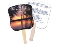 Sunset Hand Fans, Stock Design