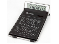 Calculators, Executive Polyurethane Leather Classic Desk Calculator
