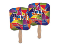 Stock Religious Fans, Wisdom, Mercy, Love, Faith, Truth and Hope