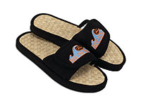 Fuji Slide Sandals with Woven Natural Insole