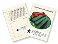 Organic Squash Seed Packets