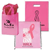 Custom Breast Cancer Awareness Bags